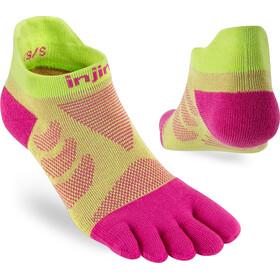 Injinji Ultra Run No-Show Calcetines Mujer, amarillo/rosa